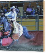 Rodeo Queen At The Grand National Rodeo Wood Print