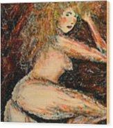 Redhead Dancer Wood Print