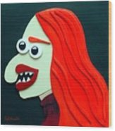 Redhead Wood Print