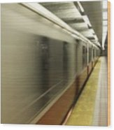 Redline In Motion Wood Print