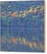 Rednor Lake Reflections - 1 Wood Print