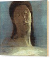 Redon: Closed Eyes, 1890 Wood Print