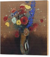 Redon: Wild Flowers, C1912 Wood Print