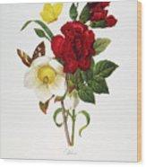Redoute: Hellebore, 1833 Wood Print