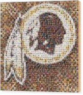 Redskins Mosaic Wood Print
