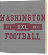 Redskins Retro Shirt Wood Print