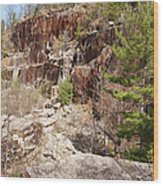Redstone Granite Quarry - Conway New Hampshire Wood Print