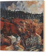 Redu Village Belgium Wood Print