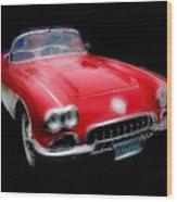 Redvette Wood Print