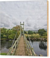 Reeth Swing Bridge Wood Print