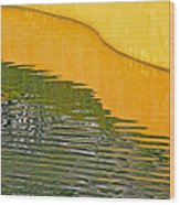 Refections Of Color Wood Print