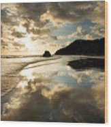 Reflected Costa Rica Sunset Wood Print
