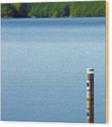 Reflected Warning Wood Print