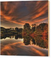 Reflecting Autumn Wood Print by Kim Shatwell-Irishphotographer