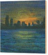 Reflecting Night Wood Print