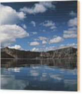 Reflecting On Crater Lake Wood Print