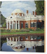 Reflecting On Jefferson Wood Print