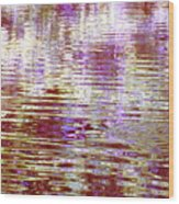 Reflecting Purple Water Wood Print