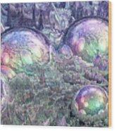 Reflecting Spheres In Space Wood Print