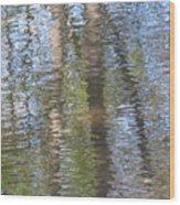 Reflecting Trees Wood Print