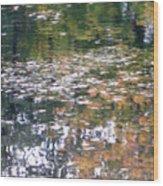 Fall Reflections 4 On Jamaica Pond Wood Print