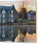 Reflection At Wagner Mill Wood Print