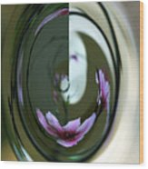 Reflection In A Drop Wood Print
