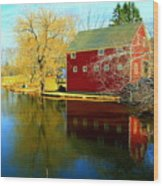Reflection In Red Wood Print