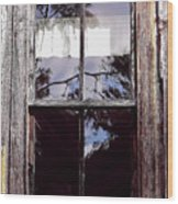 Reflection - In - The - Window  Wood Print