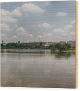 Reflection In Washington Wood Print