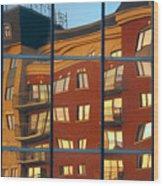 Reflection Le Selection Wood Print by Elisabeth Van Eyken