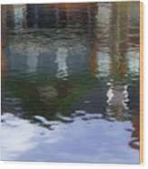 Reflection, No. 1 In Connetquot State Park Wood Print