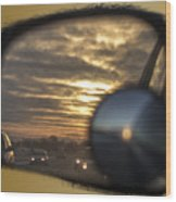 Reflection Of A Sunset Wood Print