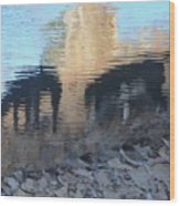 Reflection Of Dogs Wood Print
