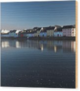 Reflection Of Galway City Ireland Wood Print