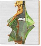 Reflection Of Golden Kali Dancer Wood Print
