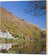Reflection Of Kylemore Abbey Connemara Ireland Wood Print