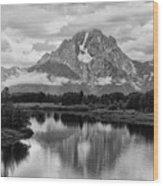 Reflection Of Signal Mountain Wood Print