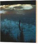 Reflection Of The Sky In A Pond Wood Print