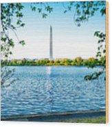 Reflection Of Washington Wood Print