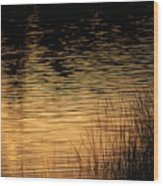 Reflection On A Sunset Wood Print