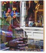 Reflection On Jazz Wood Print