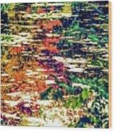 Reflection On Oscar - Claude Monet's  Garden Pond  Wood Print