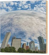 Reflection On The Bean Wood Print