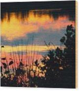 Reflection On The Lake Wood Print