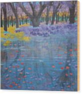 Reflection Pond Japan Wood Print