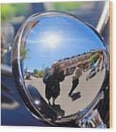 Reflection Selfie Wood Print
