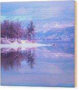 Reflections Along Highway 97 Wood Print