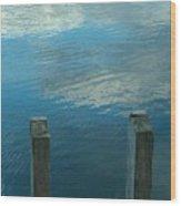 Reflections At Granite Pier Wood Print