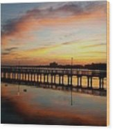 Reflections At Sunrise  Wood Print
